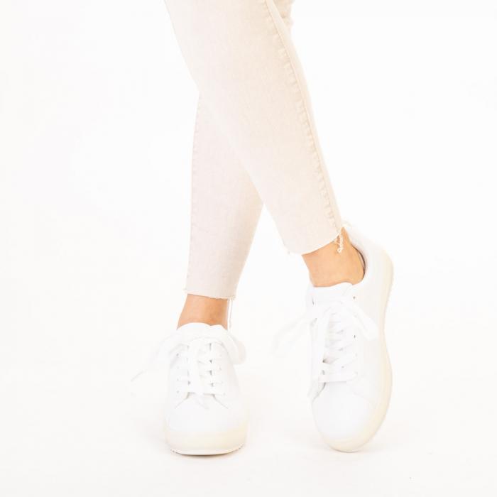 Pantofi sport dama Luela albi 1
