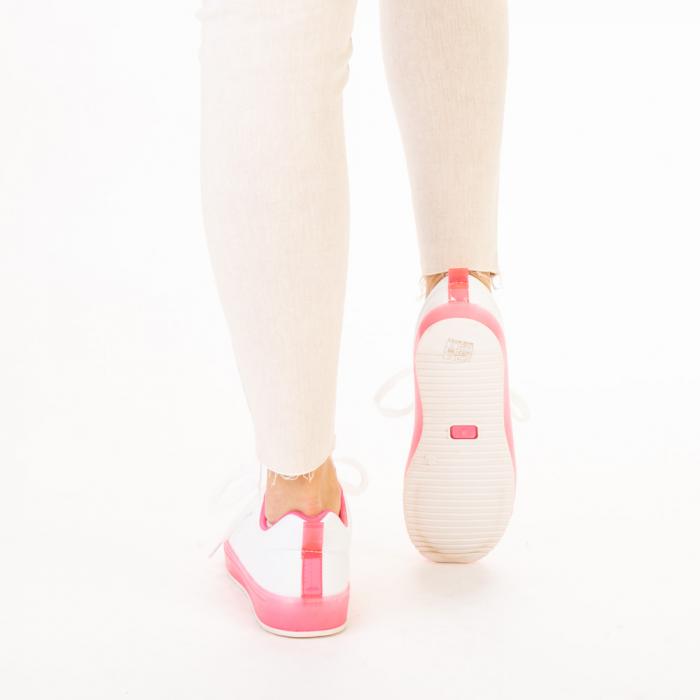 Pantofi sport dama Luela albi cu fucsia 3