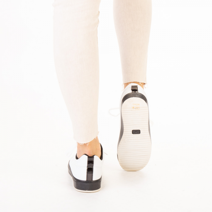 Pantofi sport dama Luela albi cu negru 3