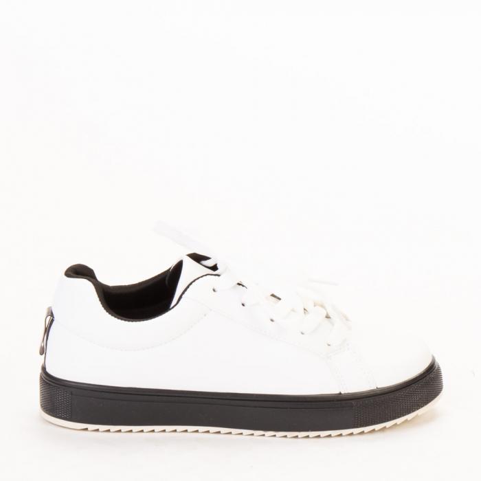 Pantofi sport dama Luela albi cu negru 0