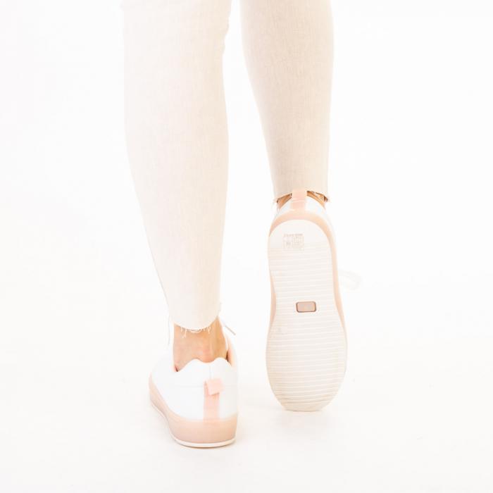 Pantofi sport dama Luela albi cu roz 3