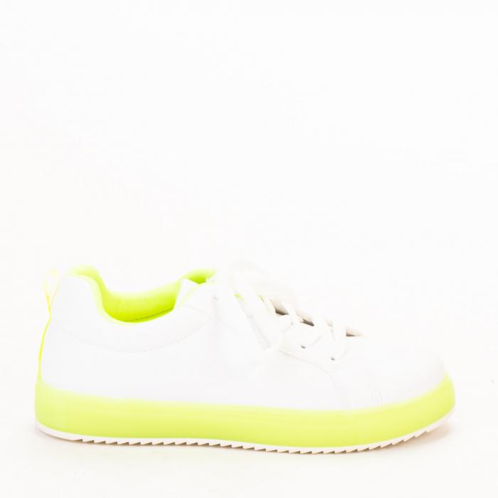 Pantofi sport dama Luela albi cu verde 0