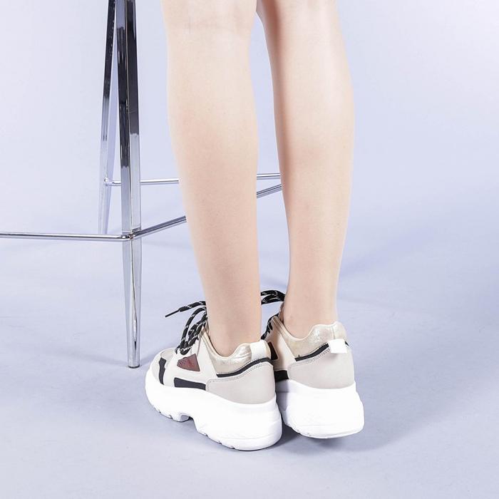 Pantofi sport dama Malini bej 3