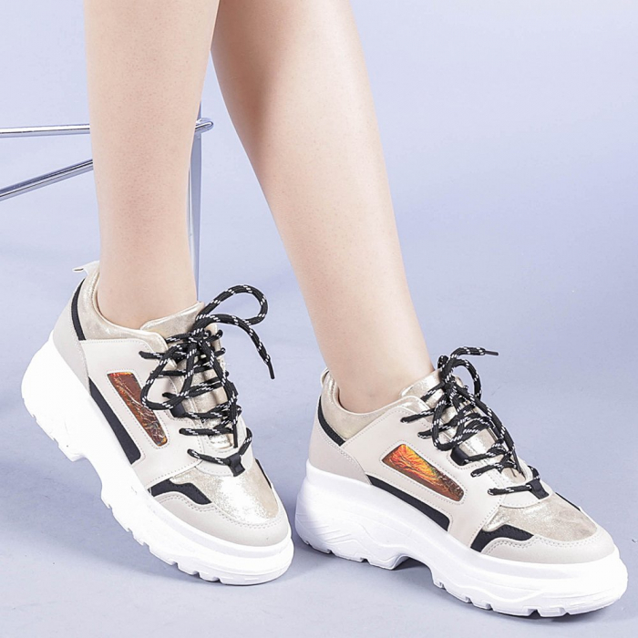 Pantofi sport dama Malini bej 0