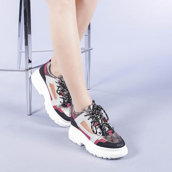 Pantofi sport dama Malini rosii 2