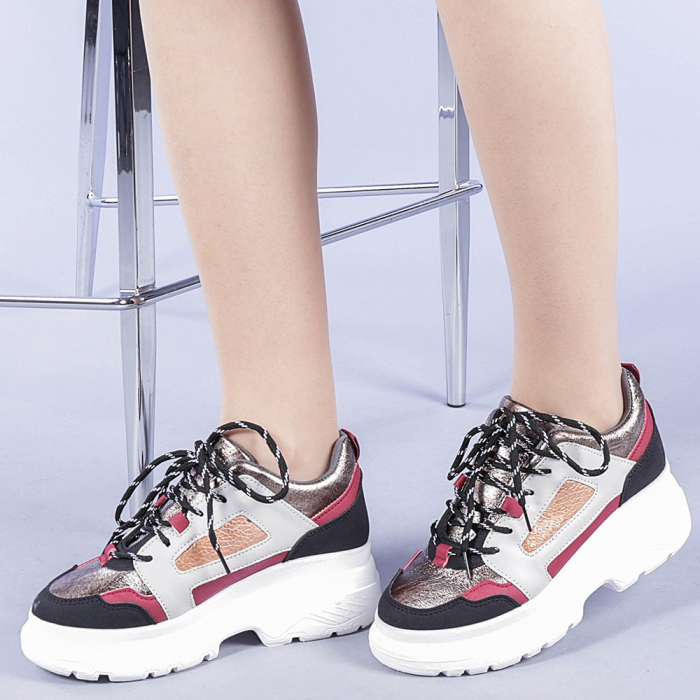 Pantofi sport dama Malini rosii 0