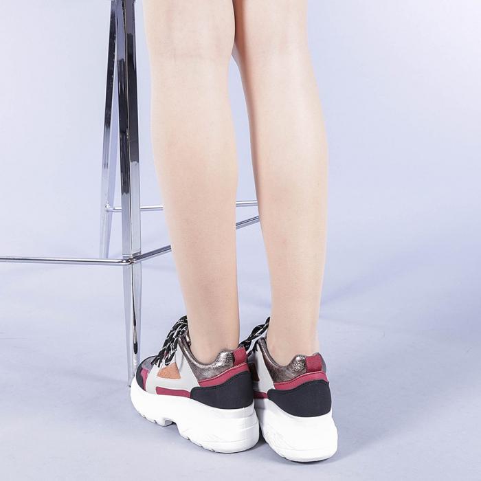 Pantofi sport dama Malini rosii 3