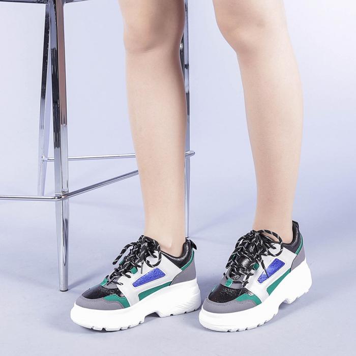 Pantofi sport dama Malini verzi 2