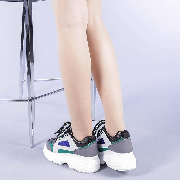 Pantofi sport dama Malini verzi 3