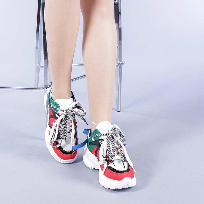 Pantofi sport dama Marilena rosii 2