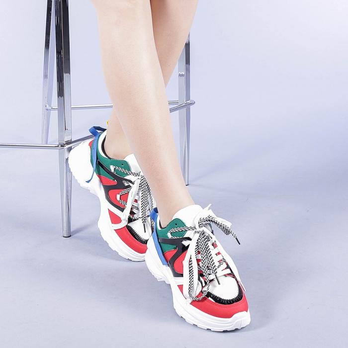 Pantofi sport dama Marilena rosii 1