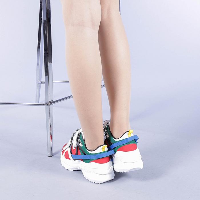 Pantofi sport dama Marilena rosii 3