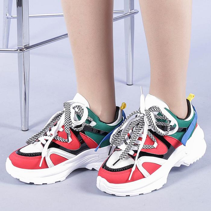 Pantofi sport dama Marilena rosii 0