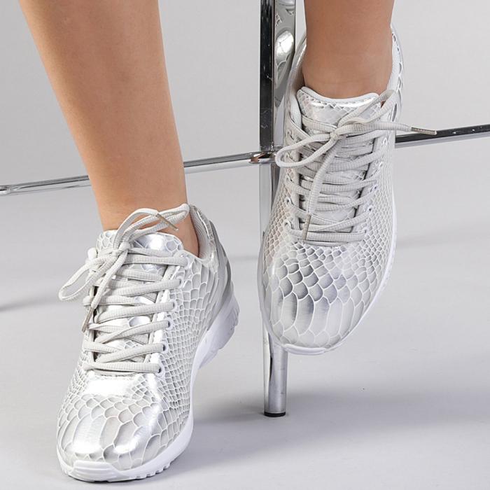 Pantofi sport dama Marmaid argintii 0