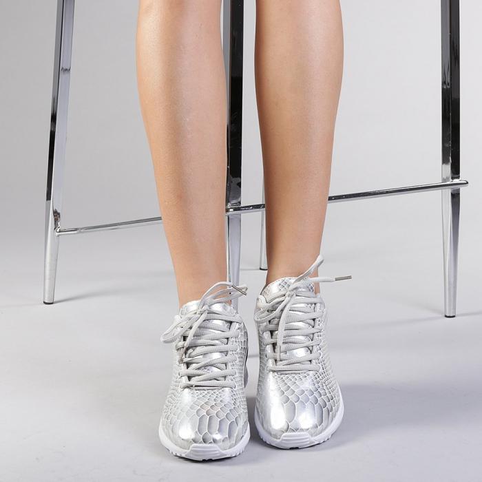 Pantofi sport dama Marmaid argintii 1