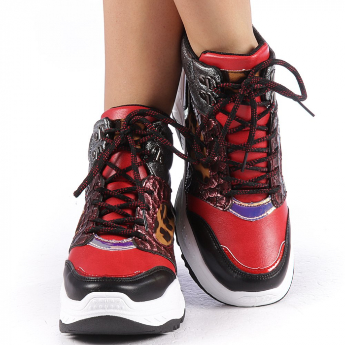 Pantofi sport dama Maryam rosii 4
