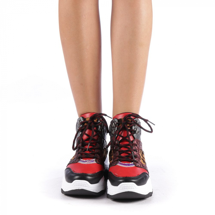 Pantofi sport dama Maryam rosii 3