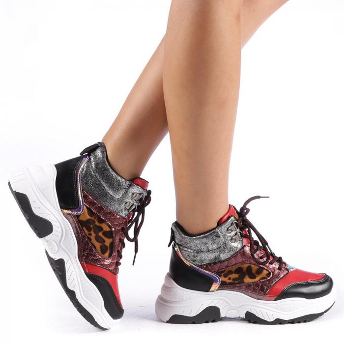 Pantofi sport dama Maryam rosii 0