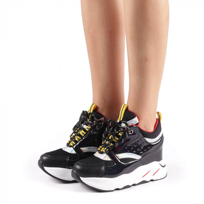 Pantofi sport dama Mayrra negri 1