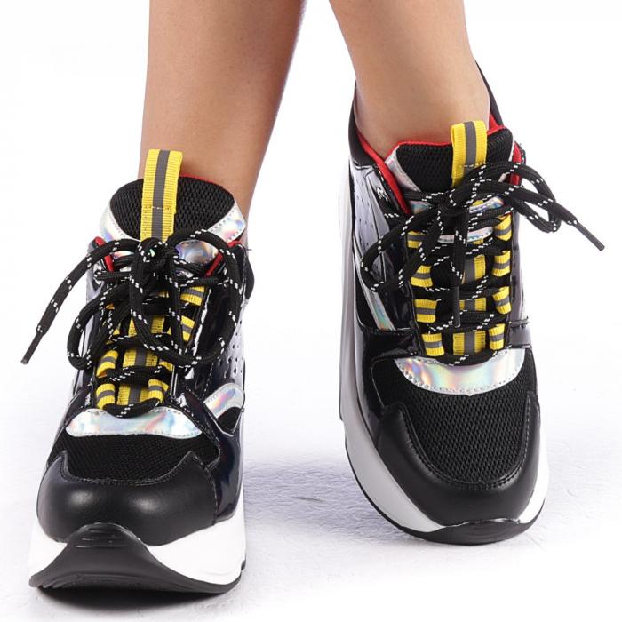 Pantofi sport dama Mayrra negri 4