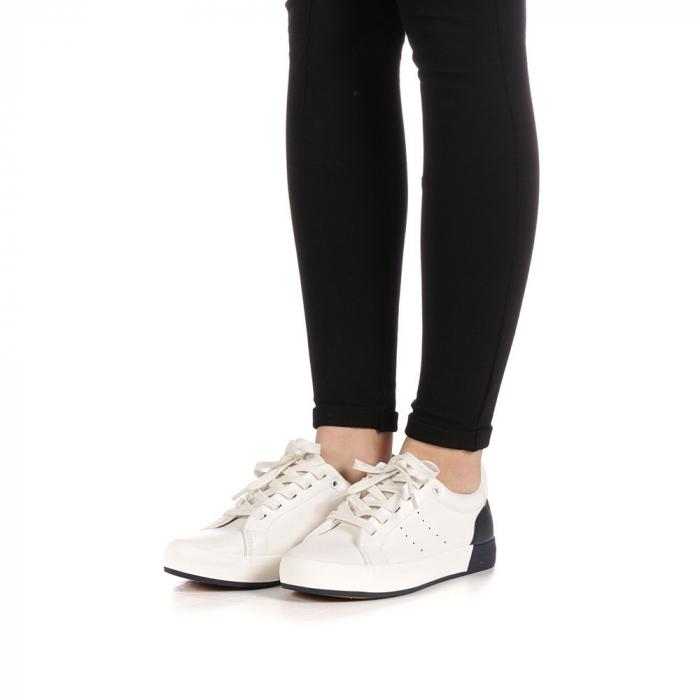 Pantofi sport dama Melgar albi cu navy 2
