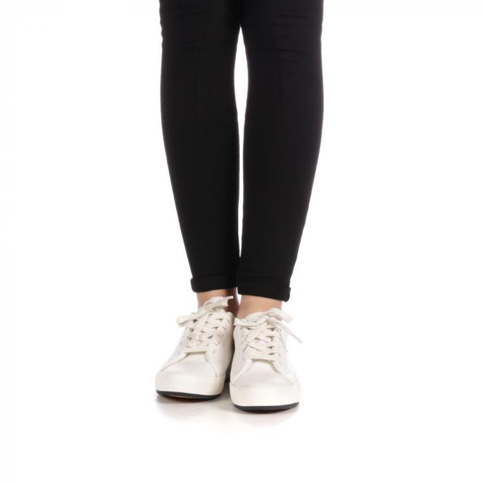 Pantofi sport dama Melgar albi cu navy 4