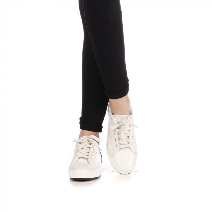 Pantofi sport dama Melgar albi cu navy 1