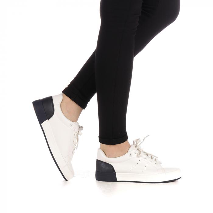 Pantofi sport dama Melgar albi cu navy 0