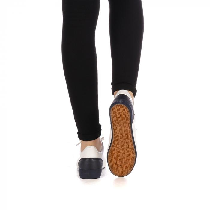 Pantofi sport dama Melgar albi cu navy 3