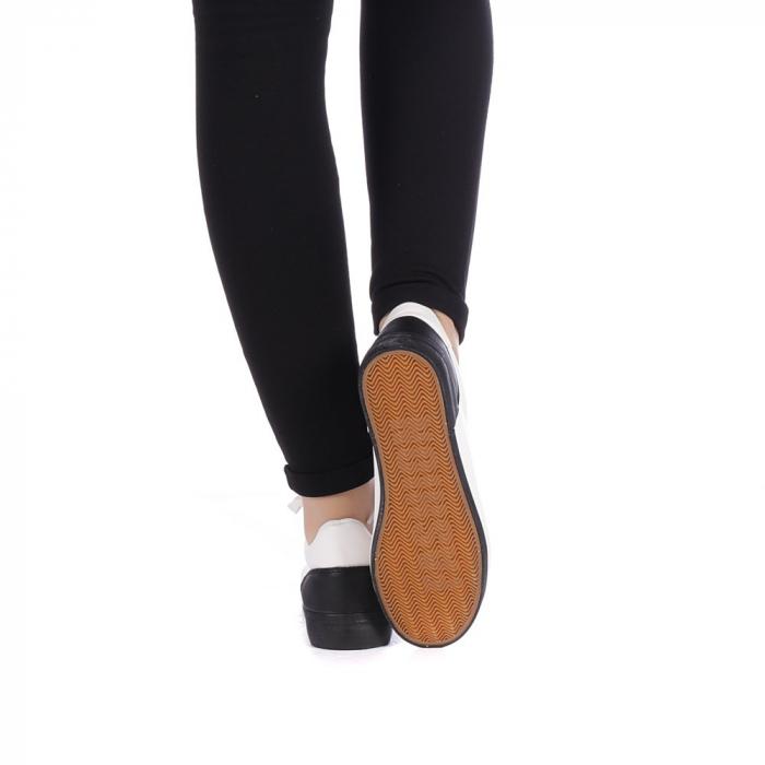 Pantofi sport dama Melgar albi cu negru 3