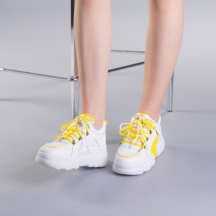 Pantofi sport dama Naomi albi 2