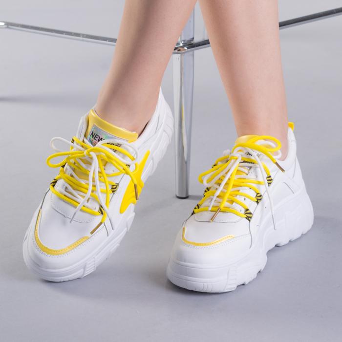 Pantofi sport dama Naomi albi 0