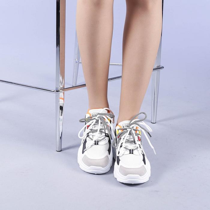 Pantofi sport dama Neena portocalii 1