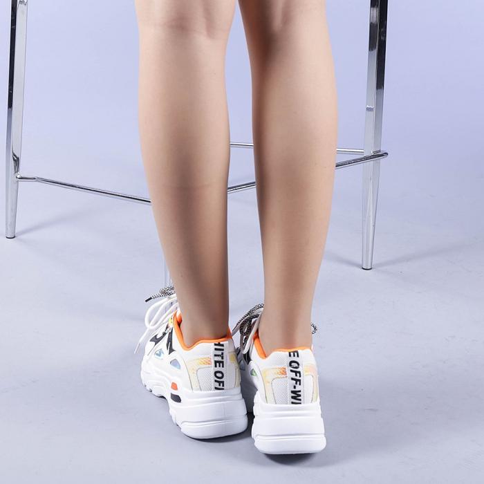 Pantofi sport dama Neena portocalii 3