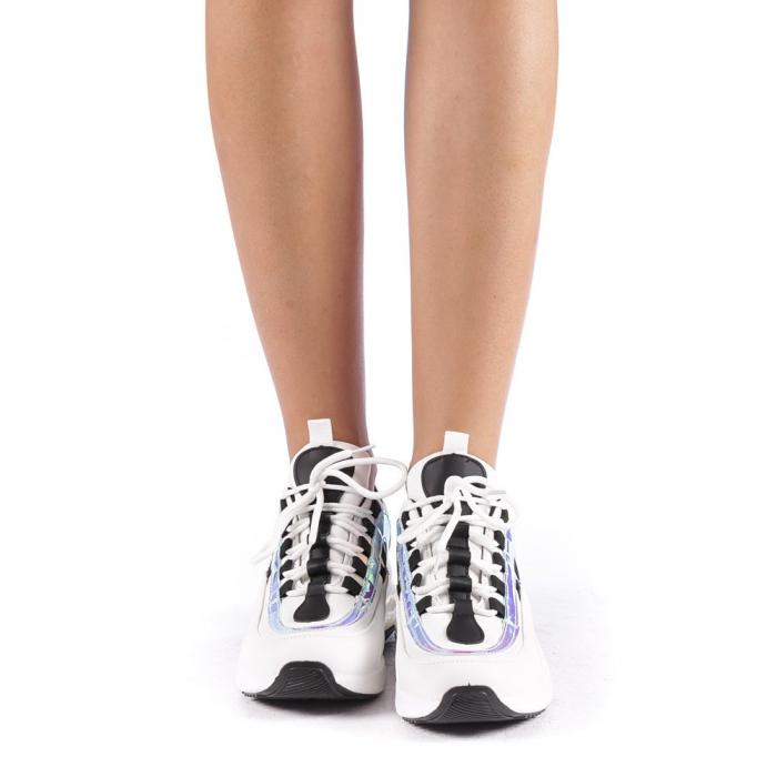 Pantofi sport dama Nikol albi 3
