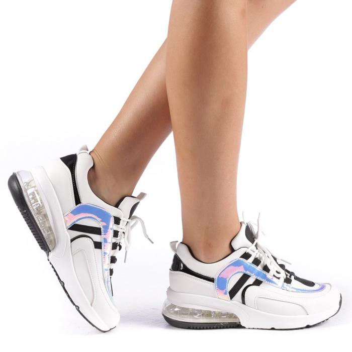 Pantofi sport dama Nikol albi 0