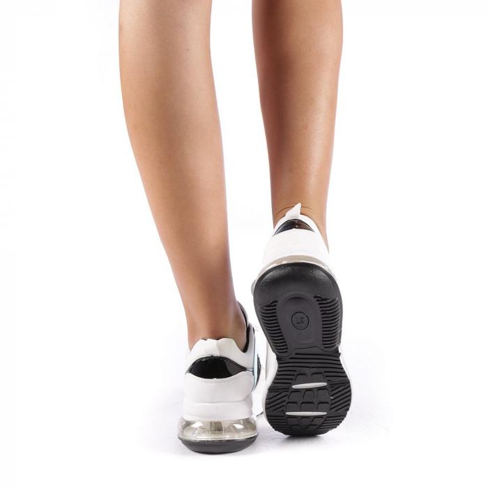 Pantofi sport dama Nikol albi 2
