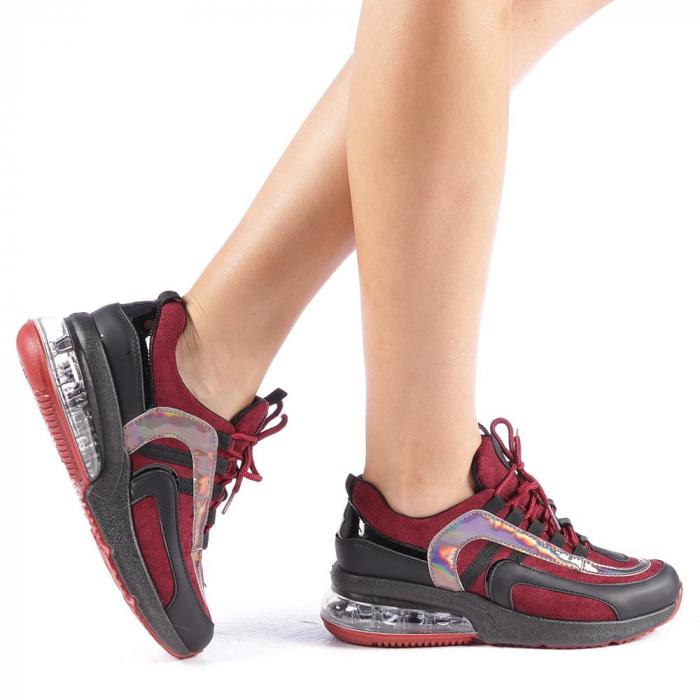 Pantofi sport dama Nikol grena 0