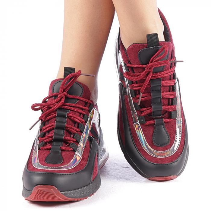 Pantofi sport dama Nikol grena 4