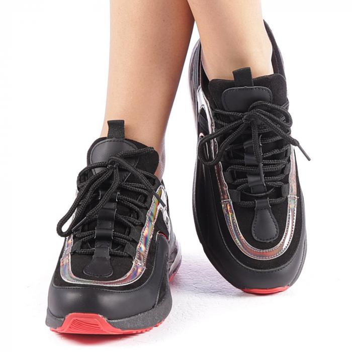 Pantofi sport dama Nikol negri 4