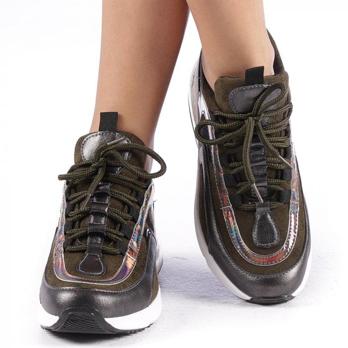 Pantofi sport dama Nikol verzi 4