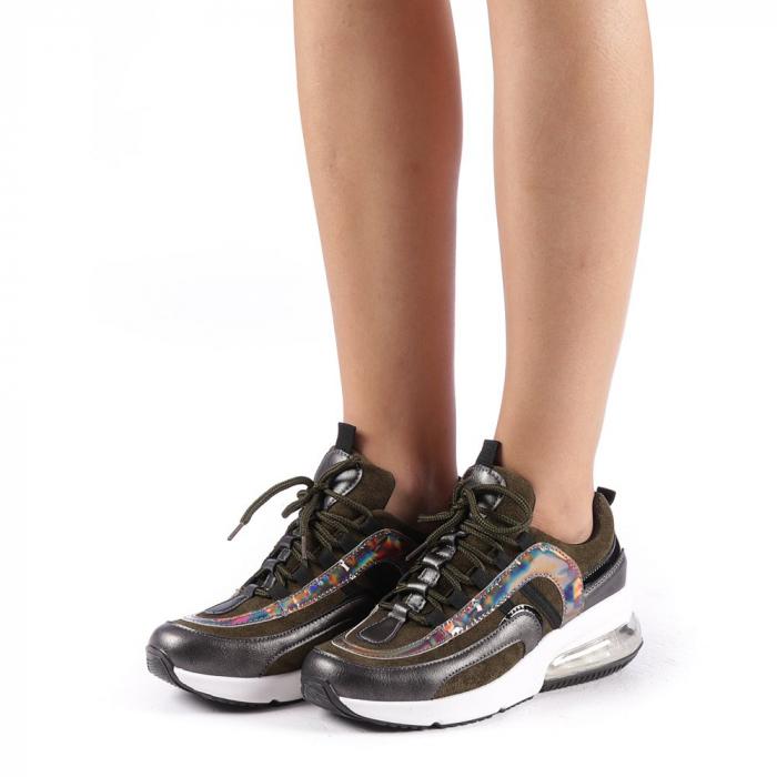 Pantofi sport dama Nikol verzi 1