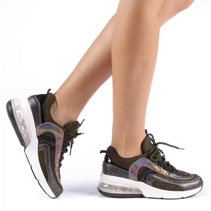 Pantofi sport dama Nikol verzi 0