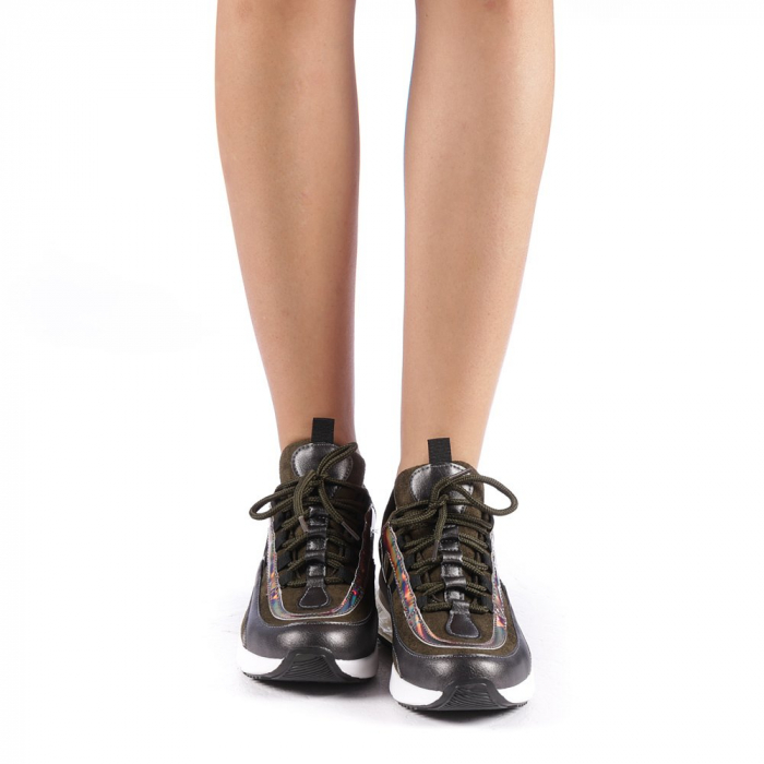 Pantofi sport dama Nikol verzi 3