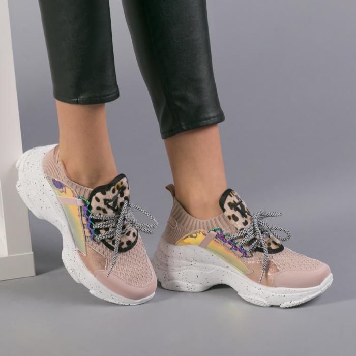 Pantofi sport dama Noha roz 3