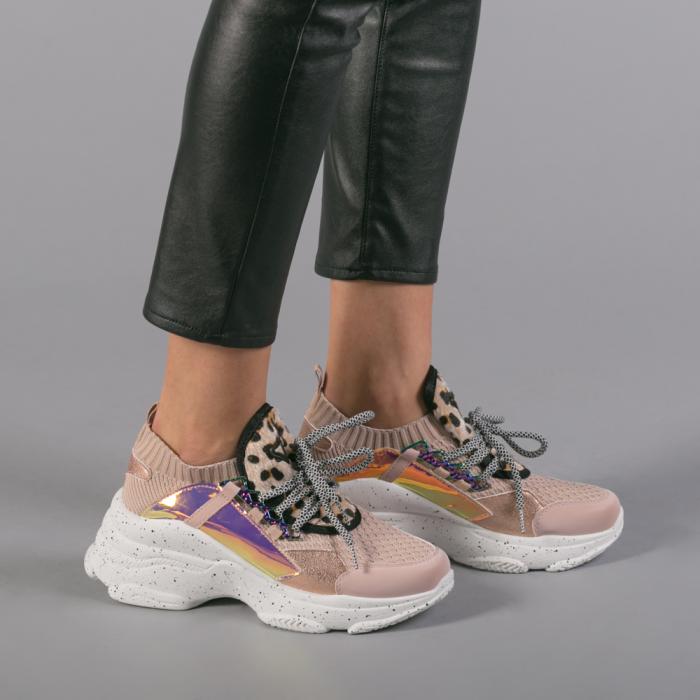 Pantofi sport dama Noha roz 2