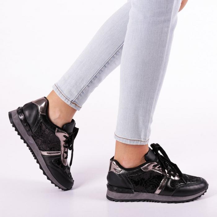 Pantofi sport dama Olena negri 0