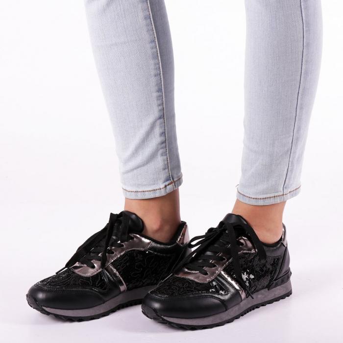 Pantofi sport dama Olena negri 1