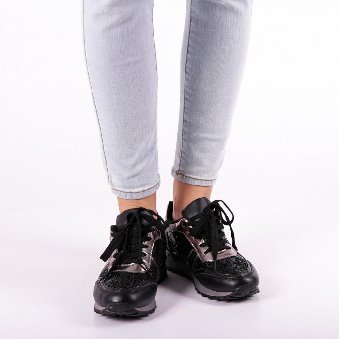Pantofi sport dama Olena negri 3