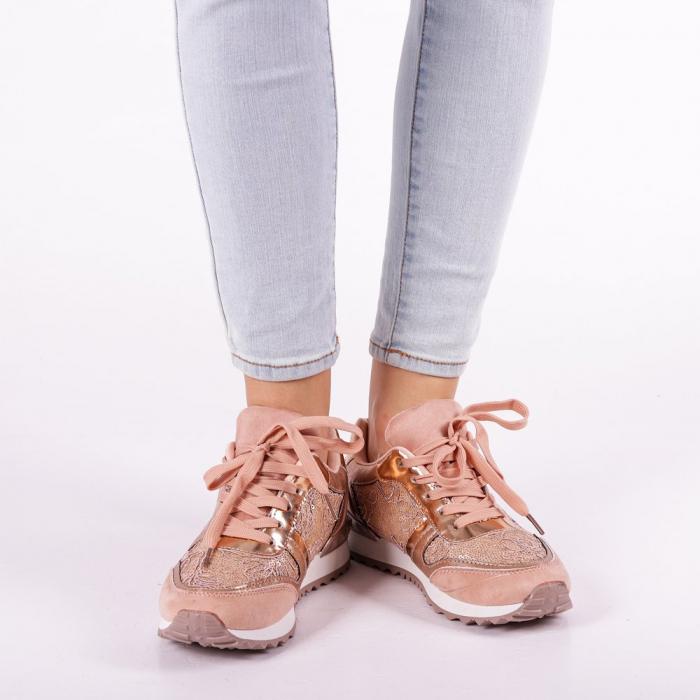 Pantofi sport dama Olena roz 3